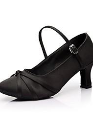 Sonne lisa Standard Schuhe anpassbare Frauen High Heels Satin mit Schnalle Tanzschuhe (weitere Farben)