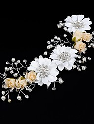 Women's Rhinestone / Cotton / Organza Headpiece-Wedding Flowers