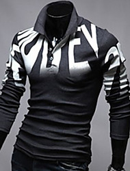 Super Hot Men's Casual Shirt Collar Long Sleeve T-Shirts
