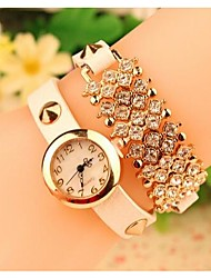 Women's 2015 The Latest Diamond Fashion Leather Japanese Quartz Watch(Assorted Colors) Cool Watches Unique Watches