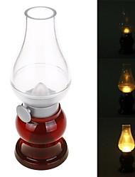 rétro rechargeable 0.55w 20lm 3500k chaud soufflant contrôle blanc a mené la lampe - blanc transparent rouge +