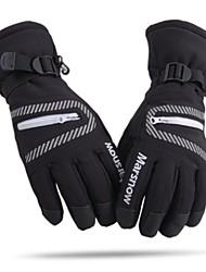 unisex thermische fashional waterdicht&winddichte zwarte ski handschoenen