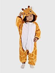 Kigurumi Pajamas Giraffe Leotard/Onesie Festival/Holiday Animal Sleepwear Halloween Yellow Patchwork Polar Fleece Kigurumi For Kid