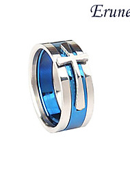 Eruner®Titanium Removable Steel Cross Pattern Ring