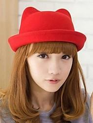 Women Wool Bowler/Cloche Hat , Cute Winter