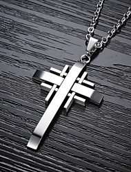 Cool Classic  Cross Titanium Steel Man Necklace Jewelry Christmas Gifts