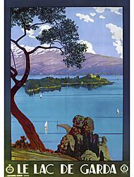 vue de rêve sur le lac et le rouleau de montagne ombre