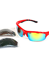 Sunglasses Men / Women / Unisex's Classic / Sports / Fashion Rectangle Red Sunglasses Half-Rim