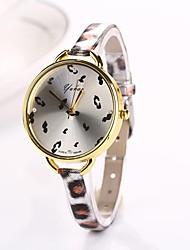 Women Big Circle Dial  Leopard Thin Brand Luxury Lady Watch C&D-284