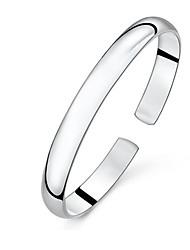 925 moda prata simples pulseira de Aimei mulheres