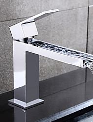 HPB® Centerset Single Handle One Hole in Chrome Bathroom Sink Faucet