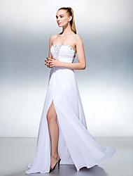 ts couture® Abendkleid plus Größe / zierlich a-line Georgette Schatz Fußbodenlänge mit Sicken / split vorne / ruching