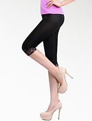 kvinners Bodycon uformell skinny svart shorbottoms