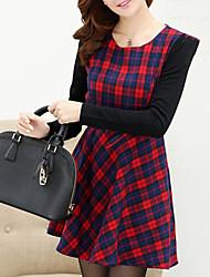 cocozhou eleganten Kontrastfarbe versehen Kleid der Frauen