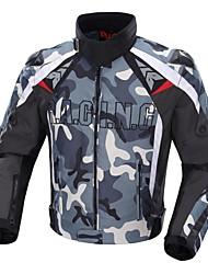 DUHAN® Men's Windproof Motorcycle Cruising Jacket with Metal Shoulder Protectors