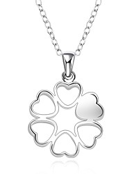 Cremation jewelry 925 sterling silver Heart Flower Shape Pendant Necklace for Women