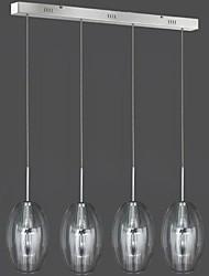 4 luminária pendente de vidro luz moderno contemporâneo