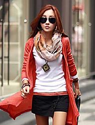 sólida casaco cor de malhas de Jill mulheres