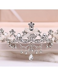 Women's Rhinestone / Crystal Headpiece-Wedding / Special Occasion Tiaras Round