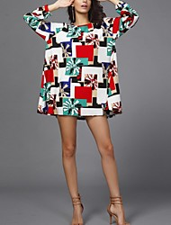 Frauen Herbst neue große Yards schwingen Mode Kleid