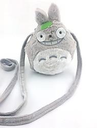 Tonari no Totoro cinza bolsa de ombro cosplay peludo
