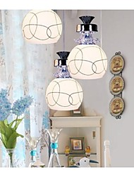 Putian@ Pendant Lights,3 Lights Modern in Glass Feature with Height Adjustable