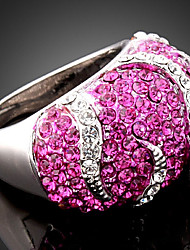 Ring Fashion Party Jewelry Alloy / Cubic Zirconia Women Statement Rings 1pc,One Size Gold