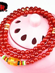 Women's Natural Red Agate Bracelet