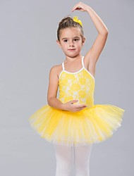 Kids' Dancewear Tops Dresses&Skirts Tutus Children's Spandex Lace Tulle Sleeveless
