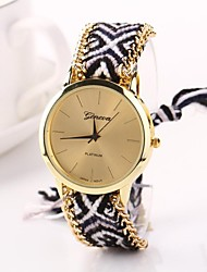Women Big Circle Dial  National Hand Knitting Brand Luxury Lady Watch C&D-277