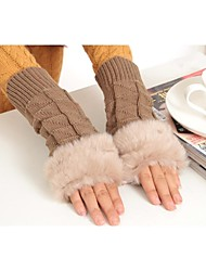 Wrist Length Glove Faux Fur Party/ Evening Gloves/General Purposes & Work Gloves/Winter Gloves