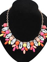 Miss Women's Fashion Temperament Elegance Statement Gem All Match Necklace