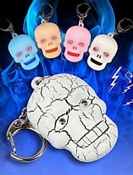testa cranio spaventoso portato keychain suono (più colori)