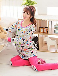 Women's Double Knitted Cotton Feeding Pregnant Women Long Suit