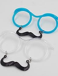 Mustache Drinking Glasses Straw Eyeglass Frames (Random Color)