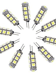 G4 1.5W 13x5050 SMD 148LM White LED Spotlight Car Lamp Bulb DC 12V(10 pcs)