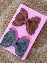 bowknot fondant ferramentas de bolo de chocolate silicone molde do bolo cupcake decoração, l8.8cm * * w5.8cm h1.5cm