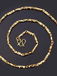 18k oro grueso chapado gargantilla collar de cadena de alta calidad 50cm de instyle nuevas mujeres