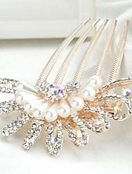 fiori scintillanti lussureggianti con perle e strass pettini