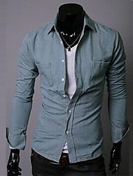 Camisa Casual ( Ganga ) MEN - Casual Quadrado - Manga Comprida