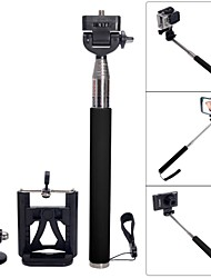 Fat Cat Portable 3-in-1 Monopod for Camera + GoPro Hero + IPHONE + Samsung S4 / Note 3 / Note 2