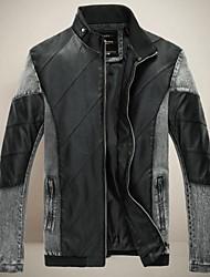 collar del soporte de chun zheng hombres todo a juego overcoat_l1033 color sólido