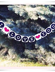 "décor matrimonio romantico ""i love you"" valentine striscione festiveal"