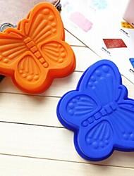 forme de papillon moule à cake gelée de glace de moule de chocolat, 13 × 16,3 silicone × 2,2 cm (5,1 × 6,4 × 0,9 pouces)