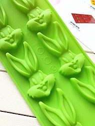 Bugs Bunny Shape Cake Mold Ice Jelly Chocolate Mold,Silicone 24×10×1.3 CM(9.4×3.9×0.5 INCH)