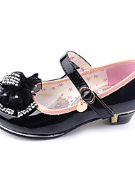 Girl's Shoes Wedding Shoes Comfort/Mary Jane/Round Toe Heels Wedding/Dress/Party & Evening Black