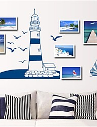 adesivos de parede decalques de parede, salubre vela azul&Gaivota de parede pvc adesivos