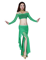 Belly Dance Dancewear Women's Tulle Gorgeous Sexy Outfits Including Top, Bottom, Skirt(More Colors)