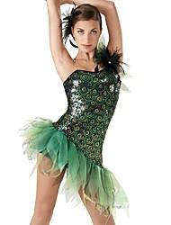 Jazz Dance Dancewear Adults' Children's Peacock Sequin Jazz Dress