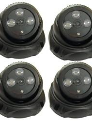 4 pcs nouvelle caméra de sécurité de surveillance dôme factice avec LED Array capteur de lumière